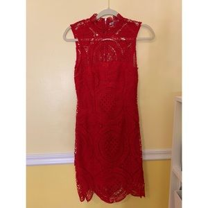 Red lace Charlotte Russe Dress